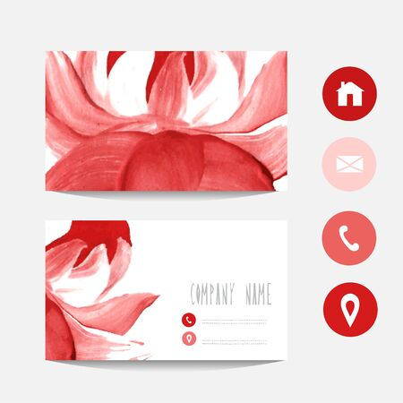 vectorized: Oil painted business card template, design element. Can be used also for greeting cards, banners, invitations. Vectorized background