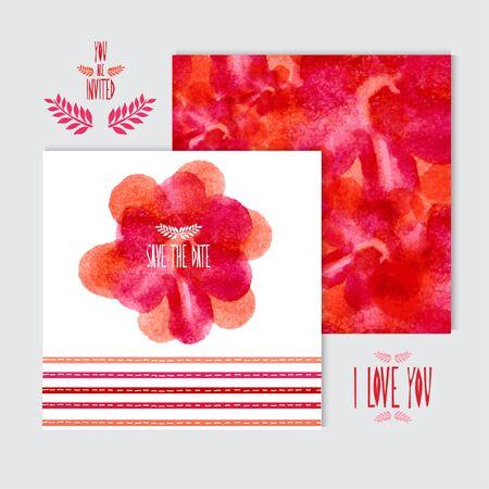 cadeaupapier: Elegante aquarel kaarten, design elementen. Kan gebruikt worden voor het huwelijk, baby shower, moederdag, Valentijnsdag, verjaardagskaarten, uitnodigingen, banners, flyers, cadeaupapier, print, productie