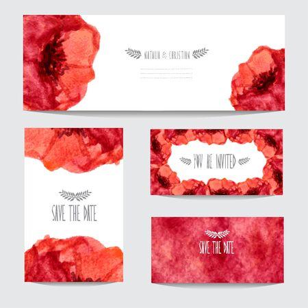 cadeaupapier: Elegante aquarel bloemen kaarten, design elementen. Kan gebruikt worden voor het huwelijk, baby shower, moederdag, Valentijnsdag, verjaardagskaarten, uitnodigingen, banners, flyers, cadeaupapier, print, productie