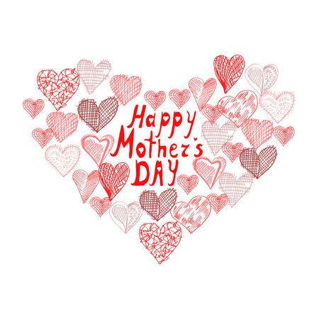 mothers day background: Mothers day sfondo con il cuore astratto, elemento di design