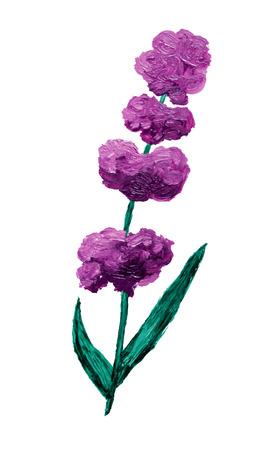 lavender oil: Oil painted lavender, design element.