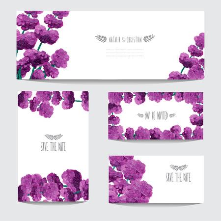 lavender oil: Elegant oil painted lavender cards