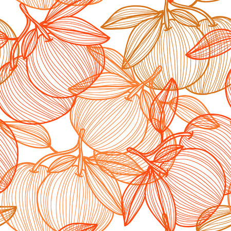 Elegant seamless pattern with hand drawn decorative grapefruits, design elements. Can be used for invitations, greeting cards, scrapbooking, print, gift wrap, manufacturing. Food background