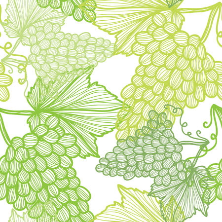 grape fruit: Elegant seamless pattern with hand drawn decorative grapes, design elements. Can be used for invitations, greeting cards, scrapbooking, print, gift wrap, manufacturing. Food background