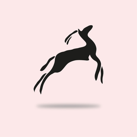 antelope: Abstract antelope symbol, design element