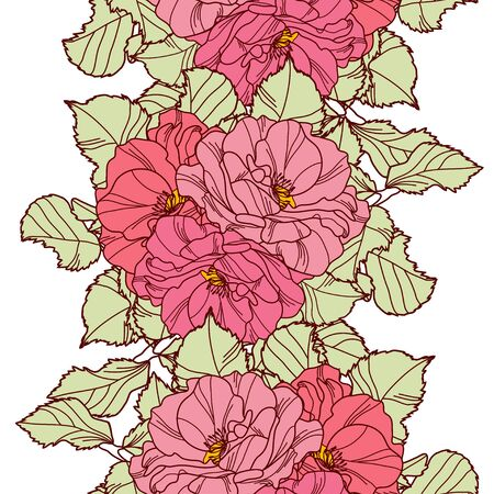 abstract rose: Elegant seamless pattern with hand drawn decorative rose flowers, design elements. Floral pattern for wedding invitations, greeting cards, scrapbooking, print, gift wrap, manufacturing.