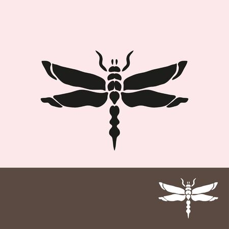 dragonfly: Abstract dragonfly symbol, design element. Can be used for invitations, greeting cards, scrapbooking, print, labels, emblems, manufacturing