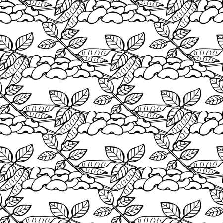 gram: Elegant seamless pattern with hand drawn horse gram, design elements. Can be used for invitations, greeting cards, scrapbooking, print, gift wrap, manufacturing. Food background