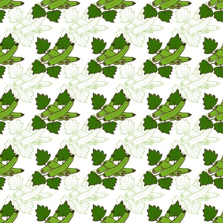 zucchini: Elegant seamless pattern with hand drawn zucchini, design elements. Can be used for invitations, greeting cards, scrapbooking, print, gift wrap, manufacturing. Food background