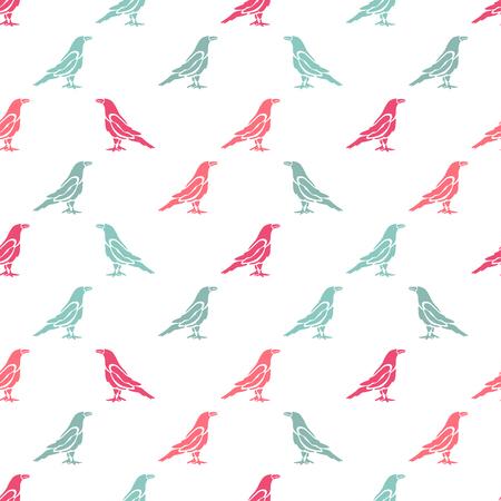 cuervo: Modelo inconsútil elegante con símbolos de pájaro abstracto, elementos de diseño. Puede ser utilizado para las invitaciones, tarjetas de felicitación, álbum de recortes, de impresión, papel de regalo, de fabricación. el tema de aves