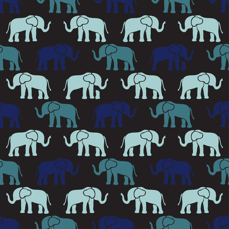 abstract animal: Elegant seamless pattern with abstract elephant symbols, design elements. Can be used for invitations, greeting cards, scrapbooking, print, gift wrap, manufacturing. Animal theme