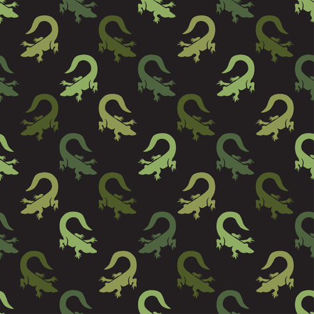 Elegant seamless pattern with abstract crocodile symbols, design elements. Can be used for invitations, greeting cards, scrapbooking, print, gift wrap, manufacturing. Animal theme