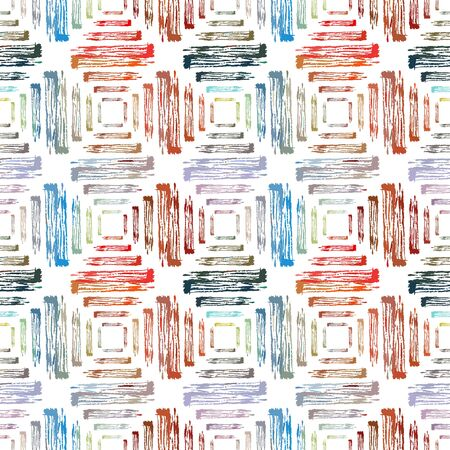 repetition: Abstract seamless pattern with brush strokes, design element. Can be used for invitations, greeting cards, scrapbooking, print, gift wrap, manufacturing. Grunge background Illustration