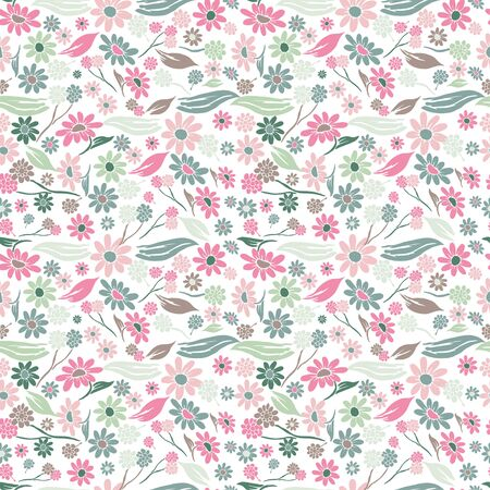 floral elements: Elegant seamless pattern with hand drawn decorative flowers, design elements. Floral pattern for wedding invitations, greeting cards, scrapbooking, print, gift wrap, manufacturing.