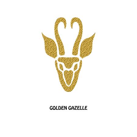 の 角 ガゼル ゴールデン