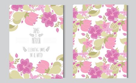 Tarjetas elegantes con flores en colores pastel decorativos, elementos de diseño. Puede ser utilizado para la boda, ducha del bebé, día de madres, del día de san, tarjetas de cumpleaños, invitaciones, saludos. flores decorativas de la vendimia.