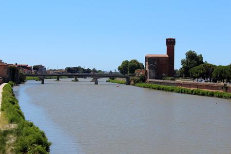 July 16, 2016, Pisa, Tuscany, Italy. Arno river view. Popular touristic european destination. Pisa city view