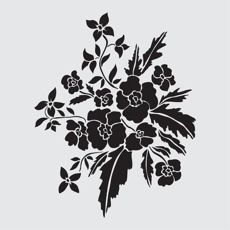 Légantes fleurs décoratives, éléments de conception. Branche florale Décoration florale pour les invitations de mariage vintage, cartes de voeux, bannières Banque d'images - 82245032
