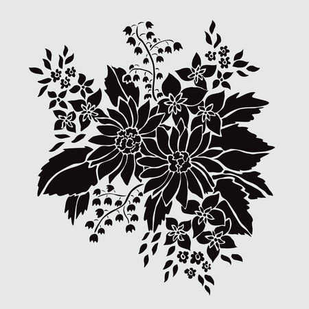 Elegante decoratieve bloemen, ontwerpelementen. Bloemen tak. Bloemendecoratie voor vintage huwelijksuitnodigingen, groetkaarten, banners