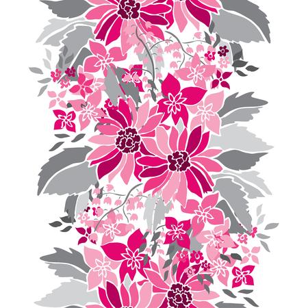 우아한 원활한 패턴 손으로 그려 장식 꽃, 디자인 요소. 결혼식 초대장, 인사말 카드, 월페이퍼, scrapbooking, 인쇄, 선물 포장, 제조 플로랄 패턴. 일러스트