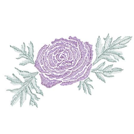 Elegant bouquet with a ranunculus flowers design element.