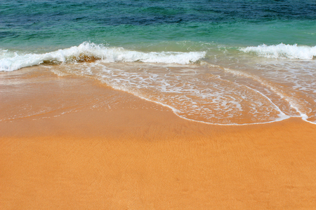 View of Indian Ocean from Hikkaduwa Beach in Hikkaduwa, Sri Lanka. Popular touristic asian destination. Seascape. Landscape. Vacation destination 版權商用圖片
