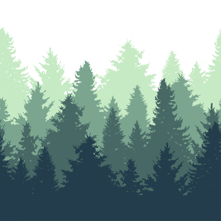 Elegant seamless pattern with fir trees, design elements. Forest pattern for invitations, cards, print, gift wrap, manufacturing, textile, fabric, wallpapers. Nature theme