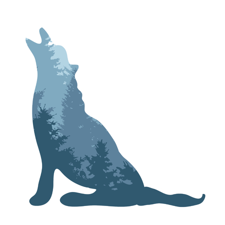 Abstract wolf signsymbol, design element. Can be used for corporate identity, company emblem, print, labels, cards, manufacturing. Animal, nature theme