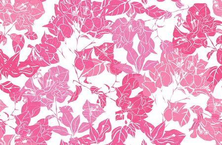 Elegant seamless pattern with bougainvillea flowers, design elements. Floral  pattern for invitations, cards, print, gift wrap, manufacturing, textile, fabric, wallpapers