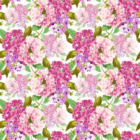 Elegant seamless pattern with verbena flowers, design elements. Floral pattern for invitations, cards, print, gift wrap, manufacturing, textile, fabric, wallpapers