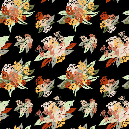 Elegant seamless pattern with lily of the valley flowers, design elements. Floral  pattern for invitations, cards, print, gift wrap, manufacturing, textile, fabric, wallpapers