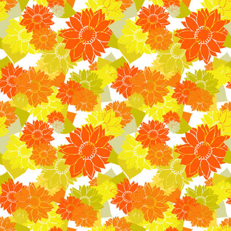 Elegant seamless pattern with sunflowers, design elements. Floral  pattern for invitations, cards, print, gift wrap, manufacturing, textile, fabric, wallpapers