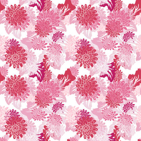 Elegant seamless pattern with gerbera flowers, design elements. Floral  pattern for invitations, cards, print, gift wrap, manufacturing, textile, fabric, wallpapers 向量圖像