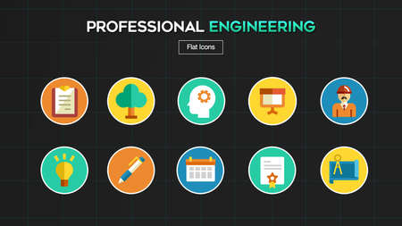 Professional Engineer Concept icon
