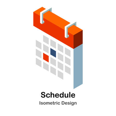 Calendar Isometric Illustration