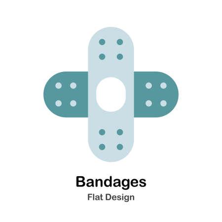 Bandages In Flat Vector Illustration Design Icon