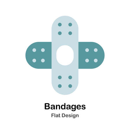 Bandages In Flat Vector Illustration Design Icon
