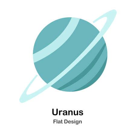 Urano en icono de diseño de ilustración de Vector plano Ilustración de vector