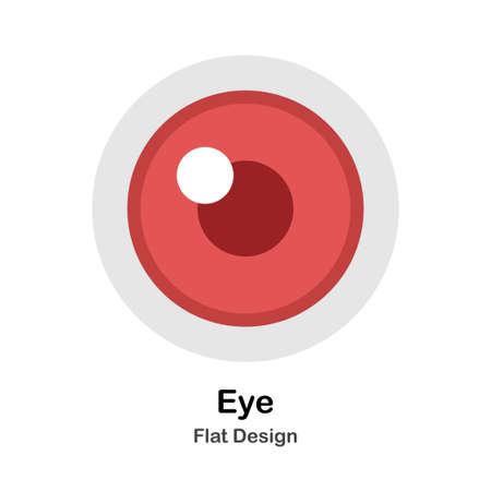 Human Eye In Flat Vector Illustration Design Icon