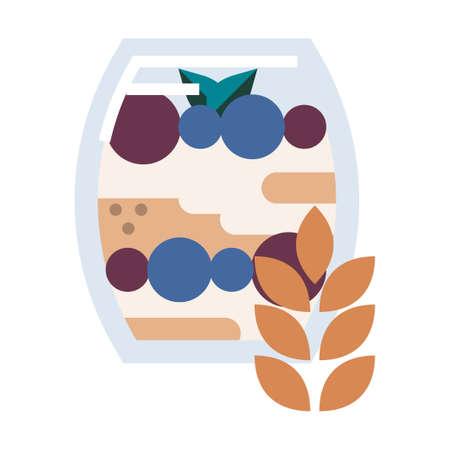 granola bag vector illustration in gradient design