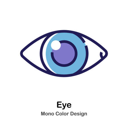 Eye mono color icon