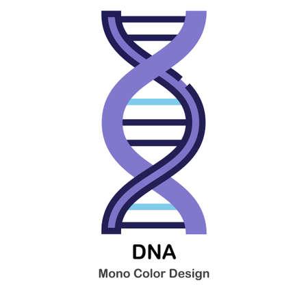 DNA structure mono color icon