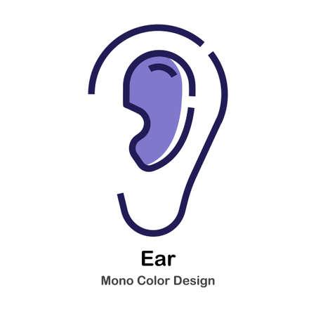 Ear mono color icon