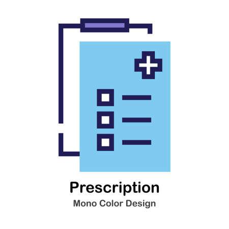 Prescription mono color icon