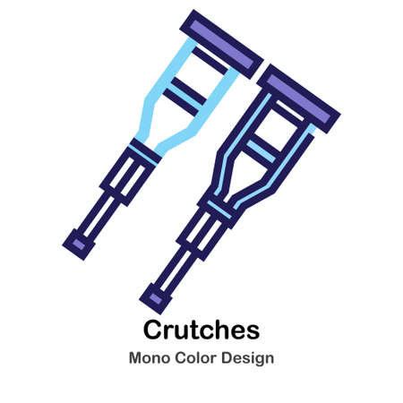 Crutches mono color icon