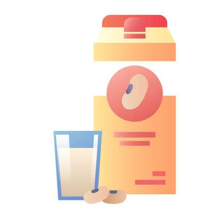 soy milk vector illustration in gradient design