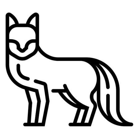 Fox vector illustration in line stroke design Illustration