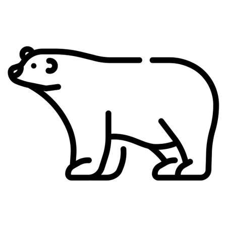 Polar bear vector illustration in line stroke design