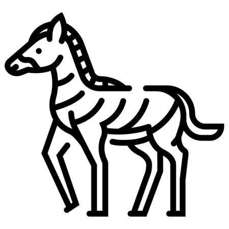 Zebra vector illustration in line stroke design Çizim