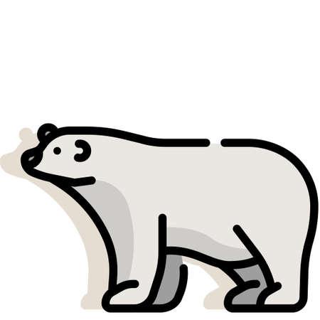 Polar bear vector illustration in line color design Ilustrace